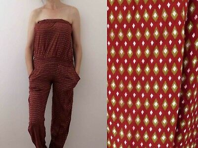 Burgundy Viscose Strapless Jumpsuit with Pockets Sm Buy 3 + items for FREE Post