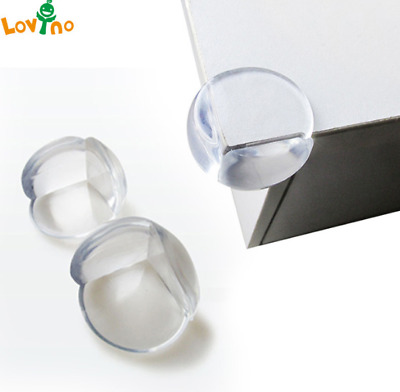 x 10 Table Glass Corner Edge Protection Cover For Child Baby Silicone Protector
