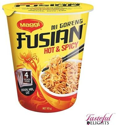 Maggi Noodles Fusian Hot and Spicy Cup 65g