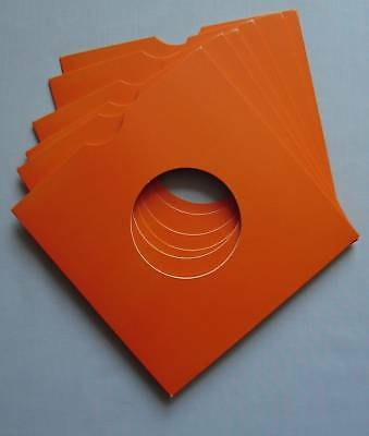 "7"" ORANGE CARD RECORD SLEEVES - (pack of 25)"