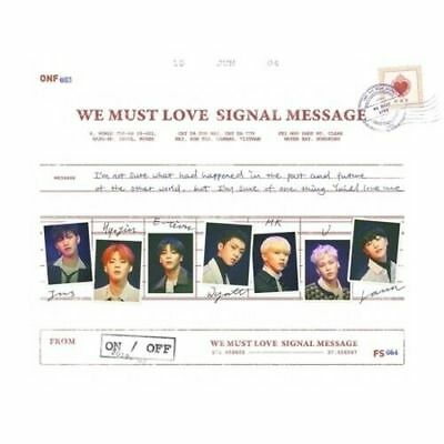 ONF - [We Must Love] 3rd Mini Album CD+Poster+Photobook+Card+Post+2p Photo K-POP
