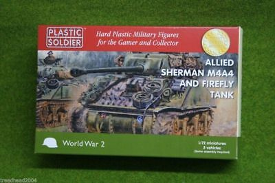 Plastic Soldier Company WW2 ALLIED SHERMAN M4A4 & FIREFLY TANK 20mm 1/72nd scale