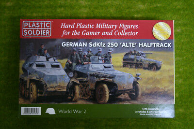 Plastic Soldier WW2 GERMAN SdKfz 250 'Alte' HALFTRACK 1/72nd scale 20mm