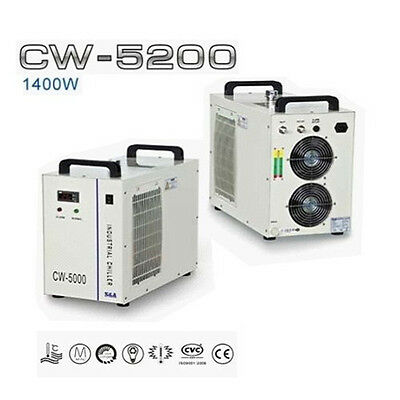 220V S&A! CW-5200BG Industrial Water Chiller for 130W/150W CO2 Laser Tube