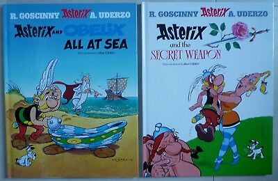 Asterix And The Secret Weapon / Asterix & Obelix At Sea - Graphic Novel H/backs