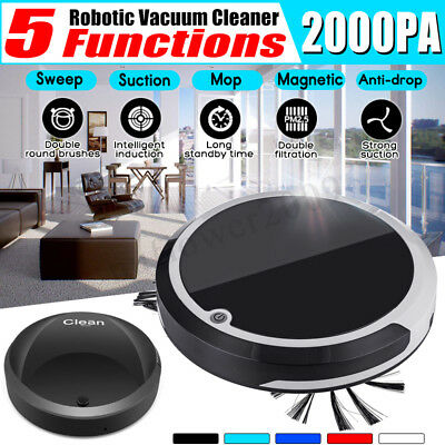 Auto Robot Vacuum Cleaner Anti-drop Rechargeable Strong Suction Sweeper Smart