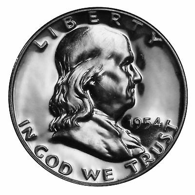 1954 Franklin half dollar Gem 90% Silver Proof