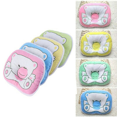 Head Pillow Baby Support Bear Design Infant Crib Cushion Stroller Accessories