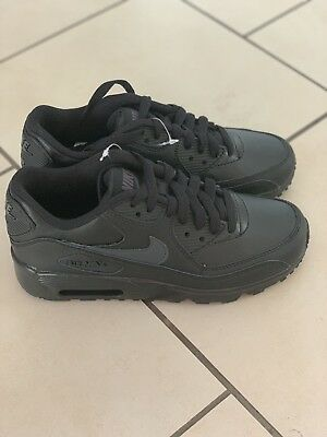 the latest 732ab 27cb2 Nike Air Max 90 Ltr Gs Black Trainers Uk 3 833412-022