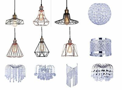 Details about Modern Ceiling Chandelier Pendant Light Lamp Shade Shades Acrylic Crystal Drop