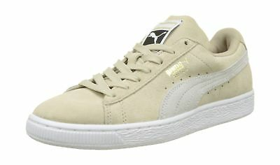 PUMA SUEDE HEART Safari Womens Trainers Lace Up Beige