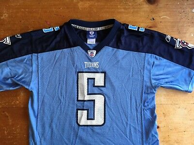 f0cb75097dc0 Reebok On Field Tennessee Titans Kerry Collins  5 Size Youth XL Jersey B10