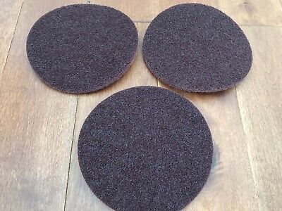 """3 PACK, 3M 00645 Scotch-Brite Surface Conditioning 7"""" Disc, Hook and Loop,MEDIU"""