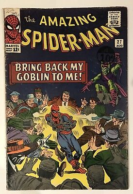 The Amazing Spider-Man #27 - Green Goblin Appearance - Marvel Silver Age