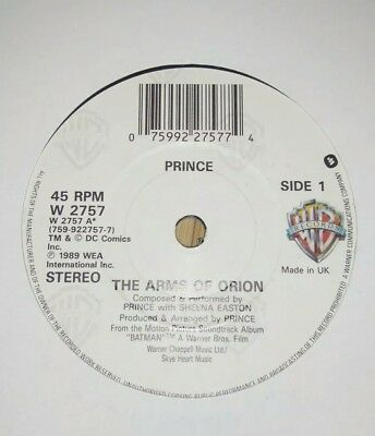"""PRINCE - 7"""" Vinyl - The Arms of Orion / I Love U in me - 1989 - WB"""