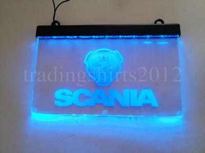 1x 24V Blue Neon LED Interior Cabin Light Plate Sign for SCANIA Trucks LED TABLE