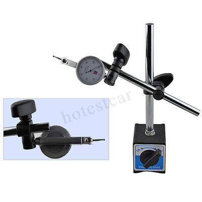 Magnetic Base Holder With Double Adjustable Pole For Dial Indicator Test