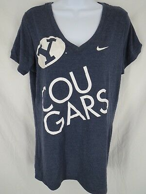 d1e16c31758f New BYU Cougars Womens Size XL XLarge Blue Nike V-Neck Slim Fit Shirt