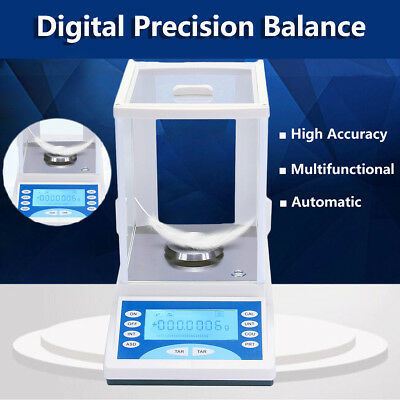 200/0.0001g 0.1mg Electronic Digital Lab Analytical Balance Precision Scale