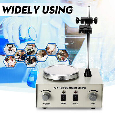 79-1 1000ml Hot Plate Magnetic Stirrer Lab Heating Dual Control Mixer