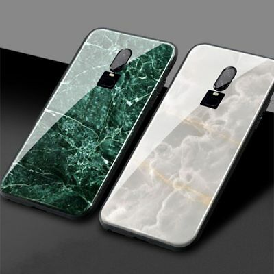 Oneplus 6 6t Luxury Tpu Cover Case Granite Marble Pattern Tempered Glass Soft