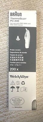 Braun PC 200 Probe Covers by Welch Allyn (Pack of 200)