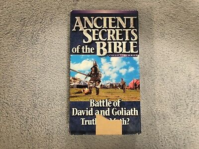 Ancient Secrets of the Bible: Battle of David and Goliath / Truth or Myth? -VHS