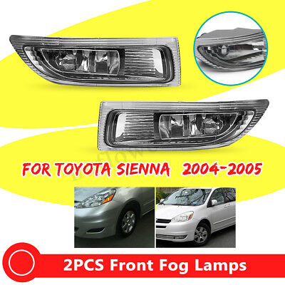 1 Pair Car Left+Right Front Fog Lamp Light+Bulbs Fit For TOYOTA SIENNA 2004