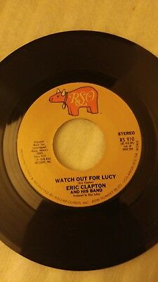 Rock 45 Eric Clapton And His Band - Promises / Watch Out For Lucy On Rso