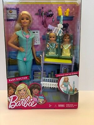 Barbie Baby Doctor Doll Playset Checkup for the Babies by Mattel *USA Seller*