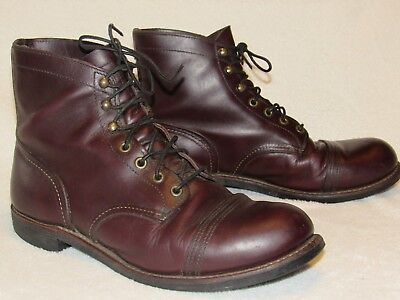 ad461b25015 RED WING IRON Ranger Oxblood Mesa Leather Men's Boot Size 9.5 Style #8119  USA