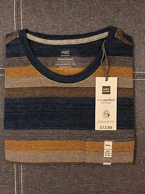 Mens T-Shirt Mark and Spencer Casual T-Shirt New M&S Tops