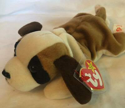 Ty Beanie Baby Bernie the Mountain Dog October 3 1996 Free Shipping  640