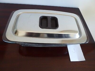 Glass Hostess Trolley Dish and Lid in very good used condition