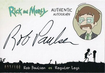 Rick and Morty Season 1, Rob Paulsen 'Regular Legs' Auto Card RP-R #083/100