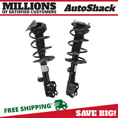 Front Pair (2) Complete Struts Assembly w/coil springs Fits 09-13 Toyota Corolla