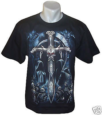 Tattoo Motiv Glow In The Dark Skull T Shirt M L Xl Gothic Totenkopf