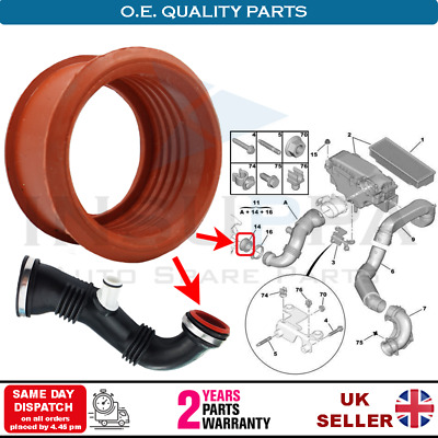 Citroen C2 C3 C4 Picasso Berlingo 1.6 Hdi Turbo Air Pipe Sleeve 1434.c8