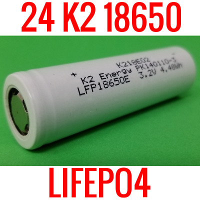 24 New K2 Lifepo4 18650 Cells 1400Mah Lfp18650E Batteries Ebike Powerwall Eskate