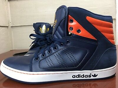 cffe7420328a48 Vintage Adidas High Top Sneakers Men s Size 14 107101396 Blue And Orange