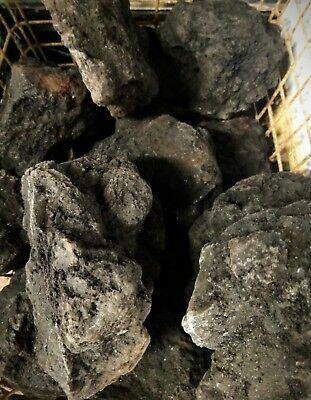 Black Med/Lge Lava Rock Natural Aquarium Decor 3Kg Plant Malawi Iwagumi