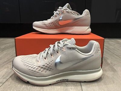 official photos e8d47 bd9bb NIKE AIR ZOOM PEGASUS 34 UK 4.5 EU 38. Women's Running Light Bone / Grey  Chrome
