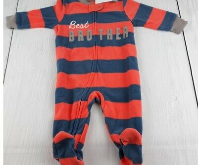 f79788b780 Carter s Boy s 6M 18M Best Brother Footed Blanket Pajama Sleeper New Nwt