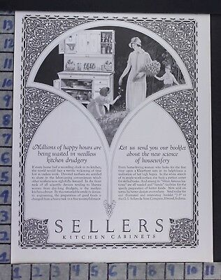 1925 Seller Kitchen Cabinet House Wife Child Home Decor Vintage Art Ad  Bz49