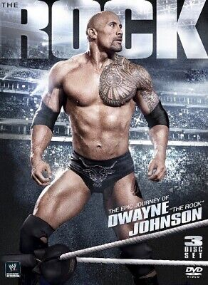 WWE The Epic Journey of Dwayne The Rock Johnson DVD (3 Discs)