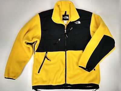 03788a3d6 VINTAGE THE NORTH Face Mens Denali Fleece Jacket Size Large Yellow Full Zip  Tnf