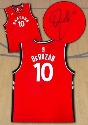 huge sale dc553 11ae9 TORONTO RAPTORS DEMAR DeRozan Signed NBA Jersey Basketball ...