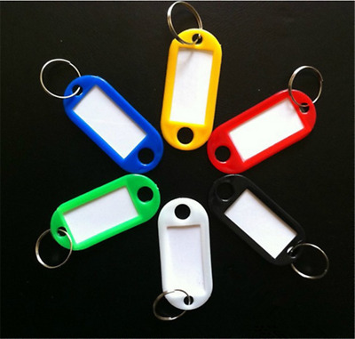 20pcs Key Ring Tags Plastic Assorted Color Plastic ID Card Identity Tags Label G
