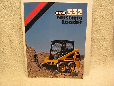 MUSTANG 332 SKID Steer Loader Brochure OMC