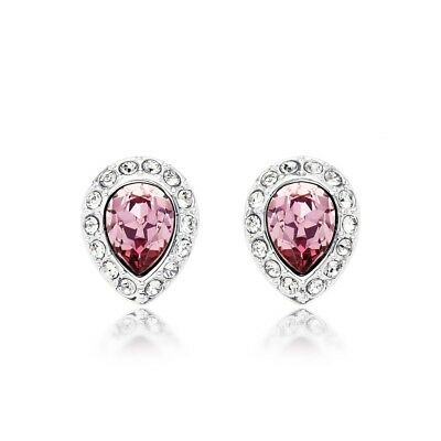 e6e6982e4 Christie Stud Earrings with Antique Pink Swarovski Crystals WGP Droplet